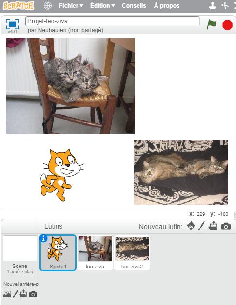 Tout est personnalisable dans Scratch, à commencer par les sprites
